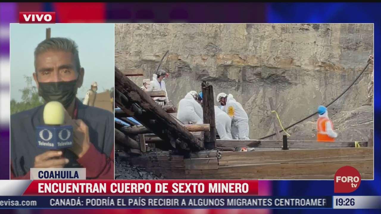 rescatan cuerpo de sexto minero en mina de muzquiz coahuila