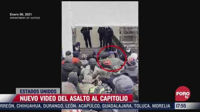 revelan nuevo video del asalto al capitolio