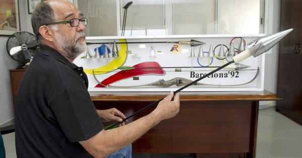 Reyes Abades y la flecha de Barcelona 92