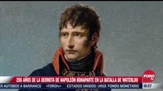 se cumplen 206 anos de la derrota de napoleon bonaparte en la batalla de waterloo