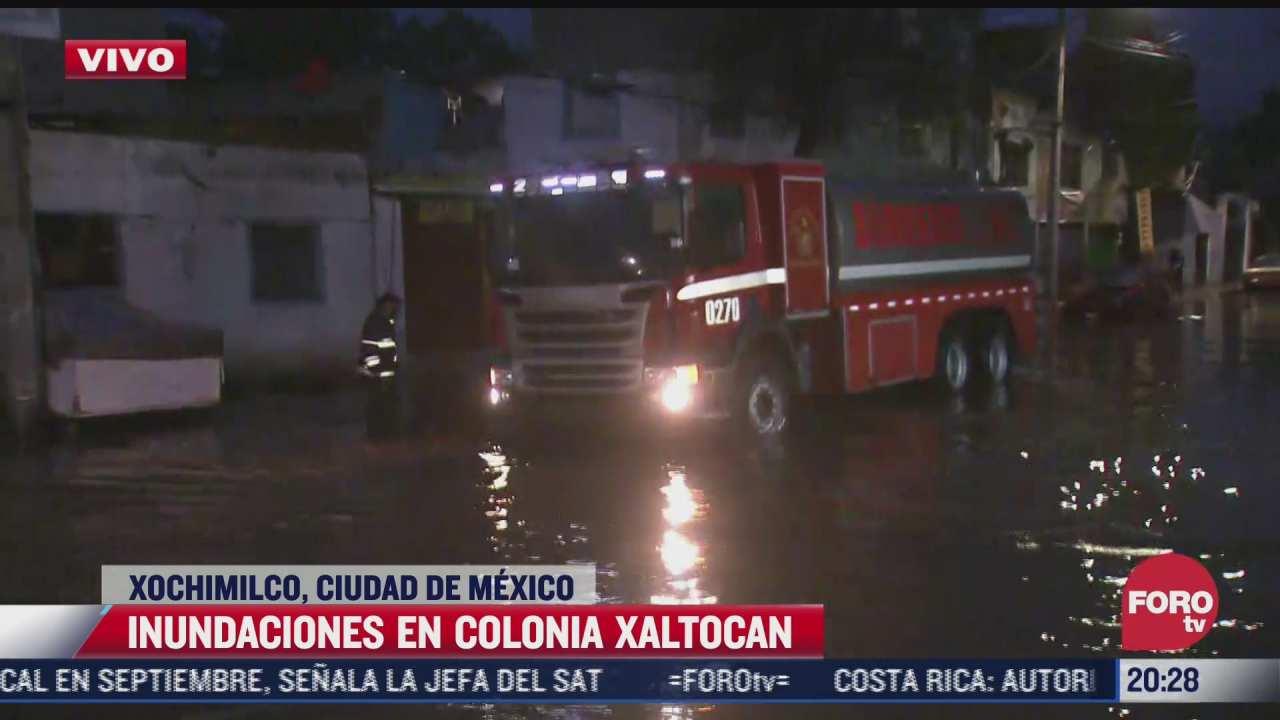 se registran inundaciones en colonia xaltocan xochimilco