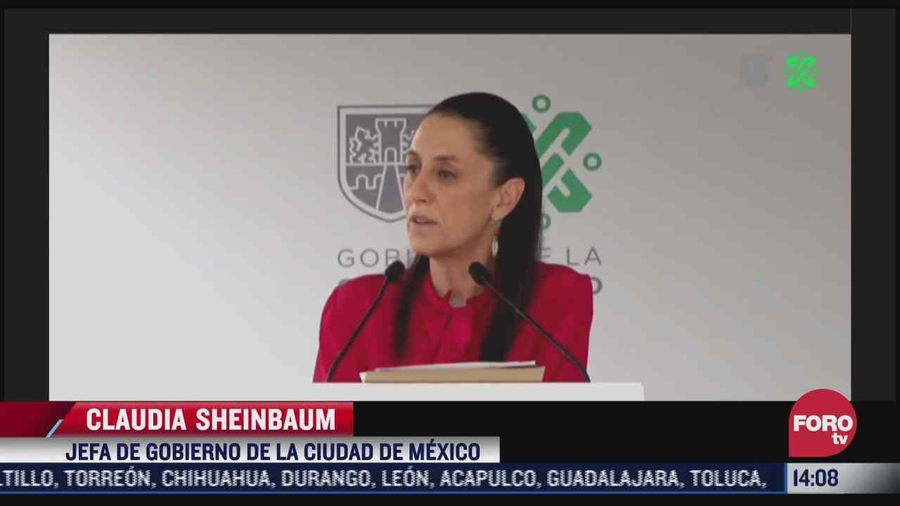 sheinbaum celebra disminucion de delitos de alto impacto en la cdmx