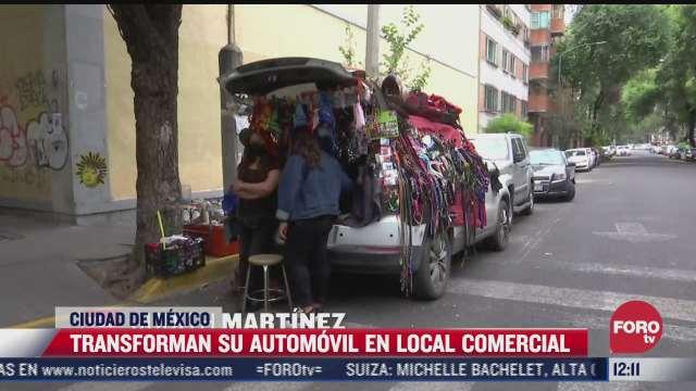 transforman automoviles en locales comerciales por impacto economico de covid