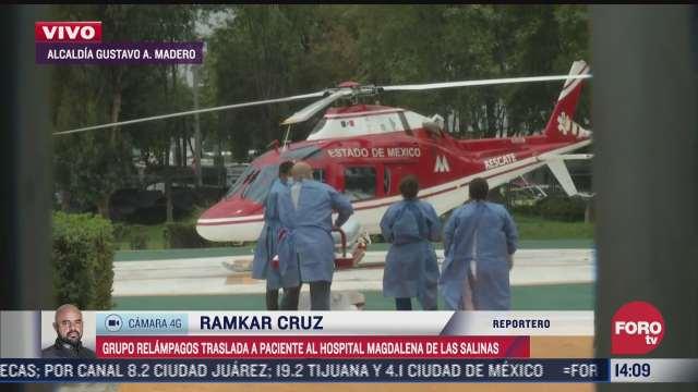 trasladan en helicoptero a hombre con traumatismo craneoencefalico