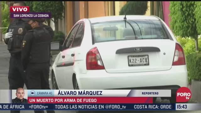 un muerto por arma de fuego en calles de xochimilco
