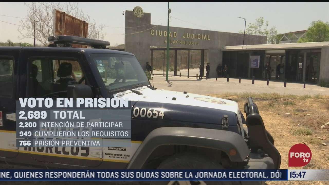 votan 766 mexicanos en prision preventiva