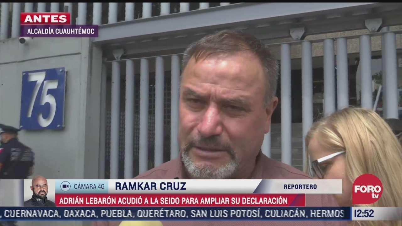 adrian lebaron amplia su declaracion en la seido por masacre contra su familia