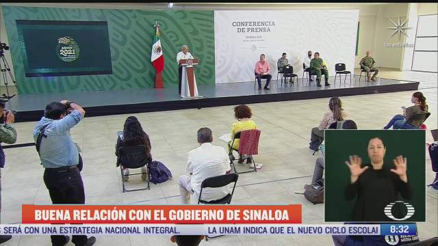 amlo gobernador de sinaloa y sedena anuncian avances de seguridad en la entidad