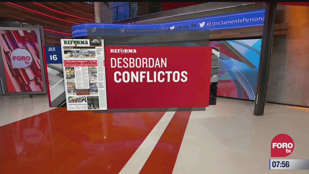analisis de las portadas nacionales e internacionales del 16 de julio del
