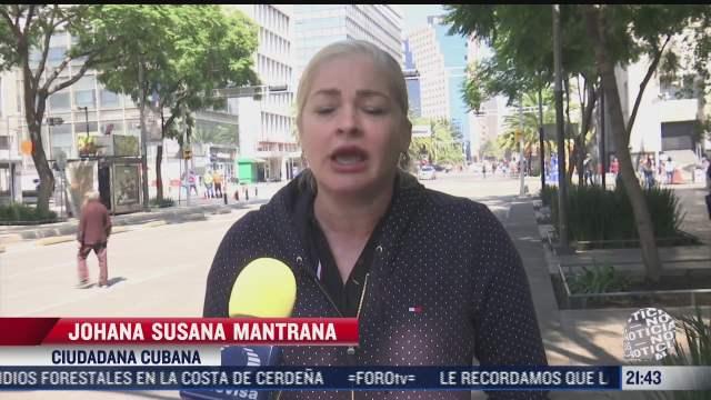 apoyan cubanos al gobierno de su pais durante marcha en cdmx