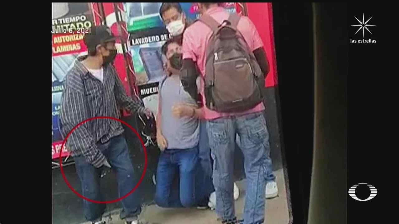asaltantes aplican la llave china a sus victimas en oaxaca