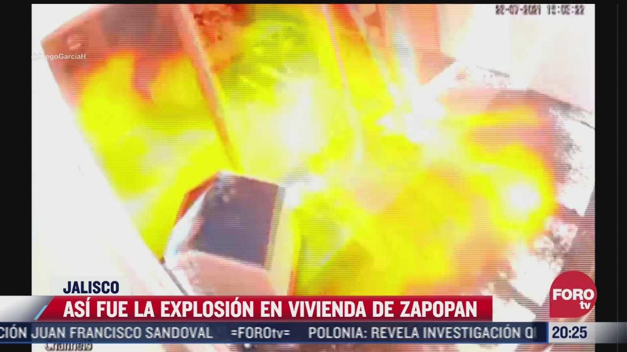 asi fue la explosion en vivienda de zapopan jalisco