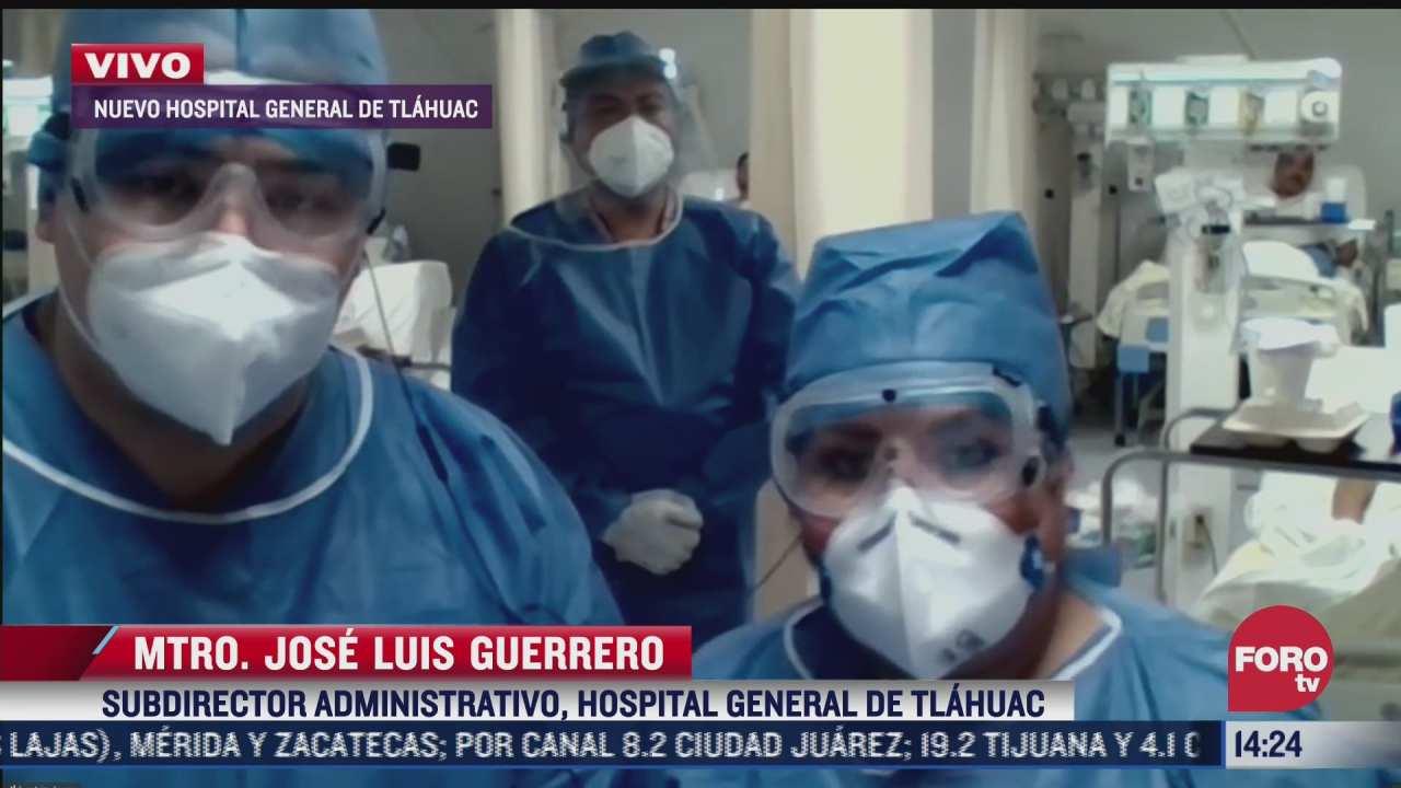atienden a 50 pacientes con covid 19 en el hospital general de tlahuac