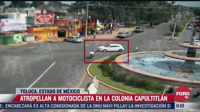 atropellan a motociclista en toluca estado de mexico