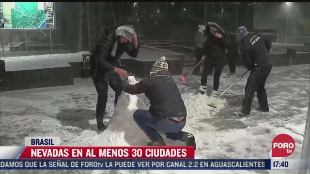 cae inusual nevada en 30 ciudades de brasil