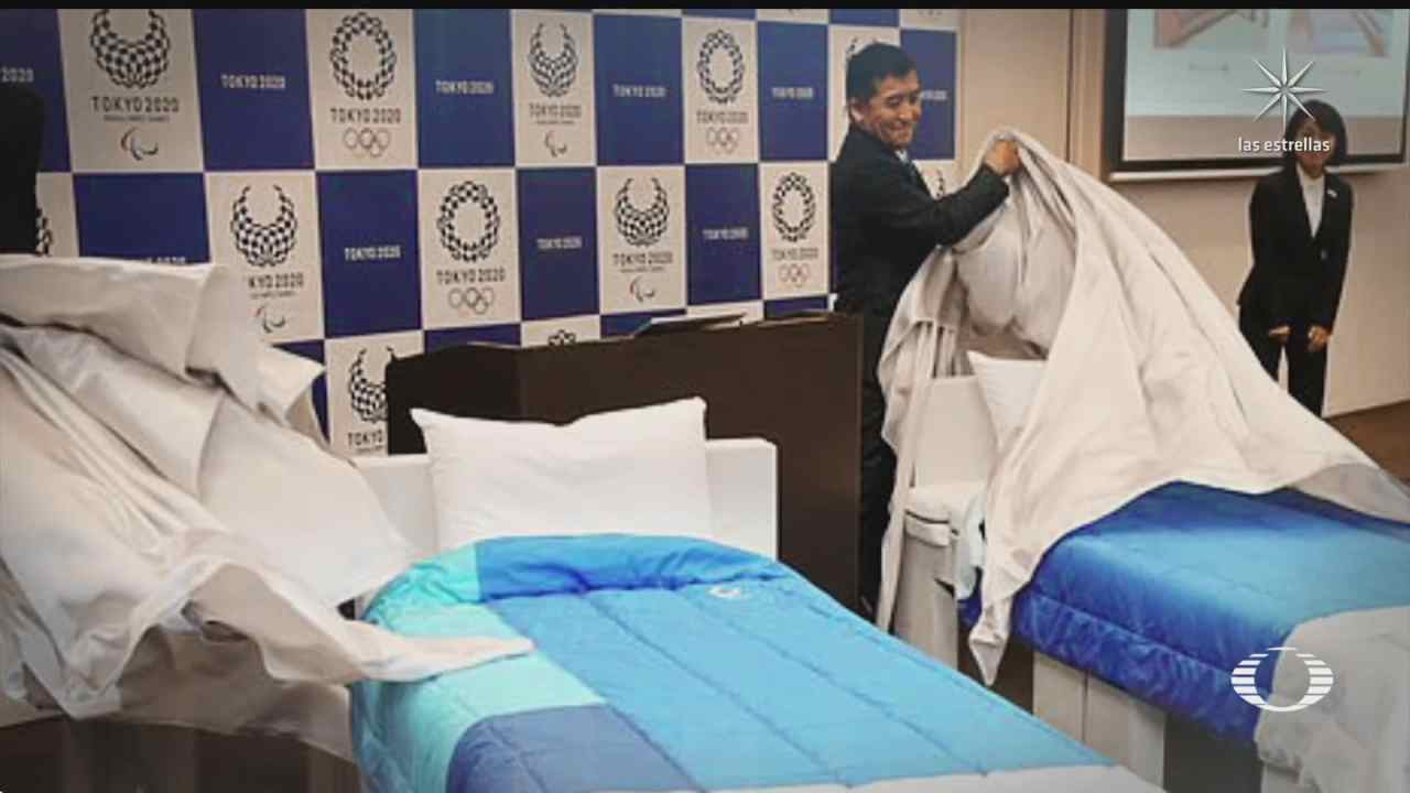 camas ecologicas de carton para atletas en jjoo fake news