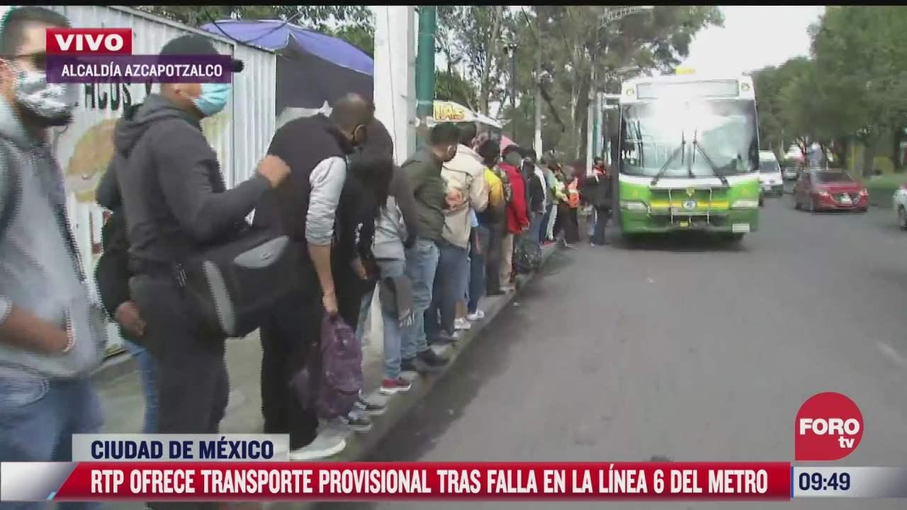 camiones de rtp apoyan a usuarios de l6 del metro