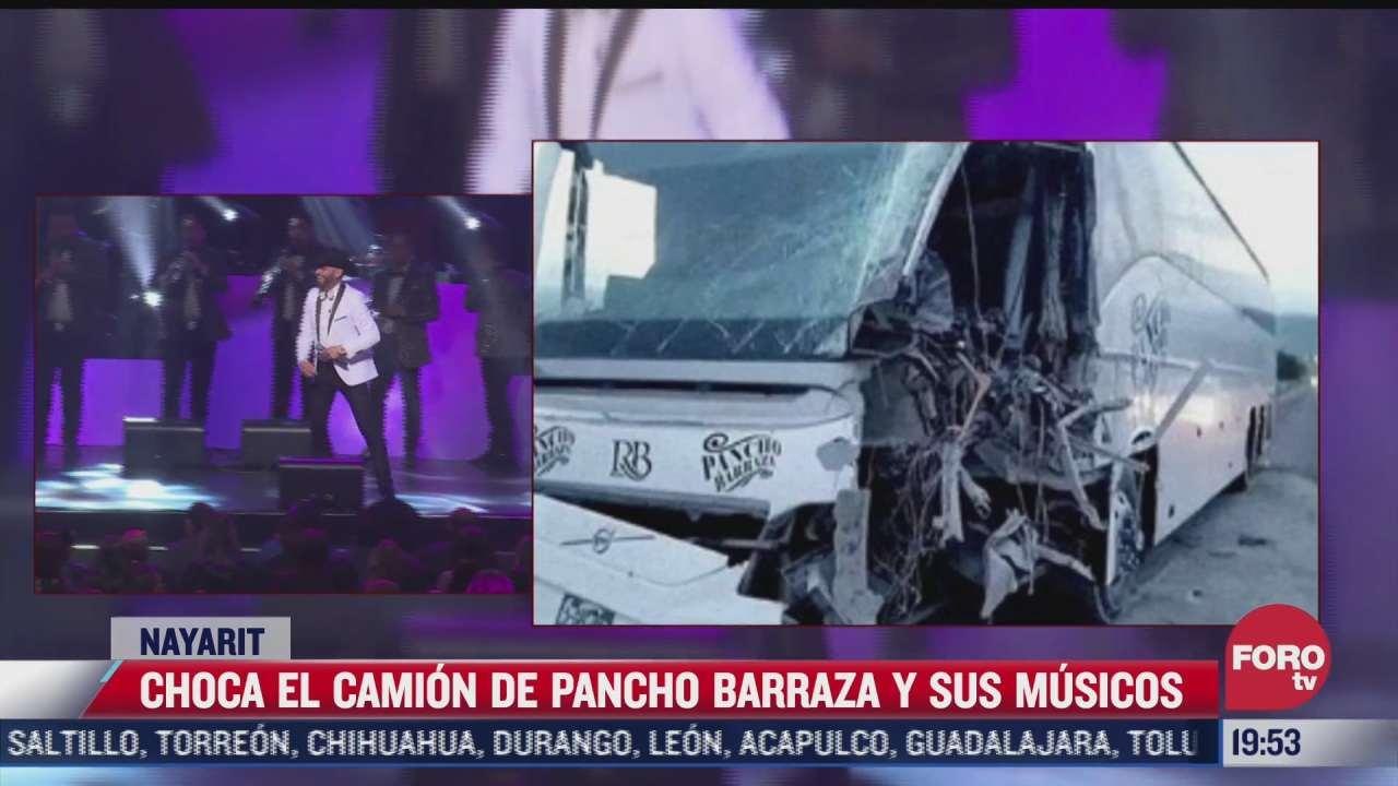 cantante pancho barraza sufre aparatoso accidente