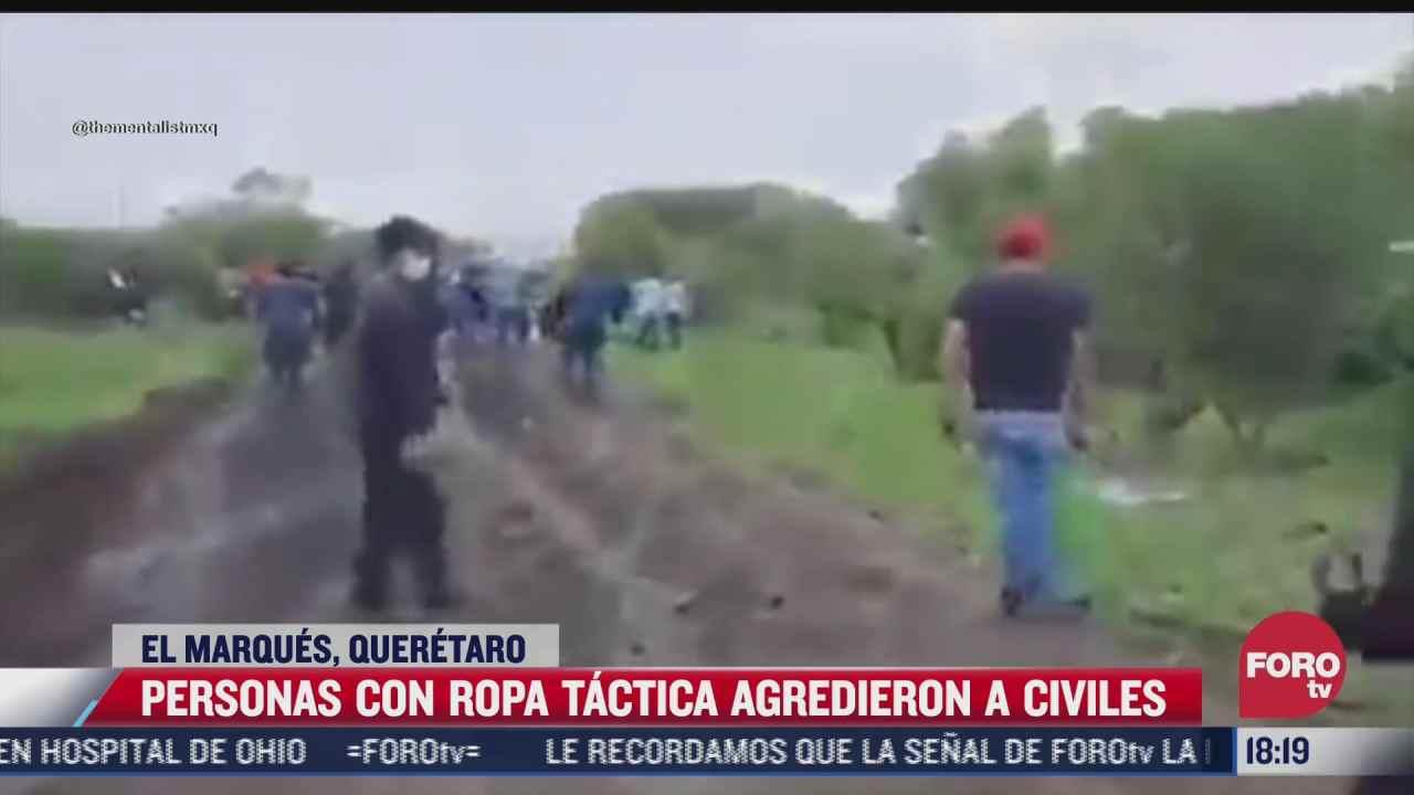 captan a varios hombre agrediendo a civiles en cerro prieto queretaro