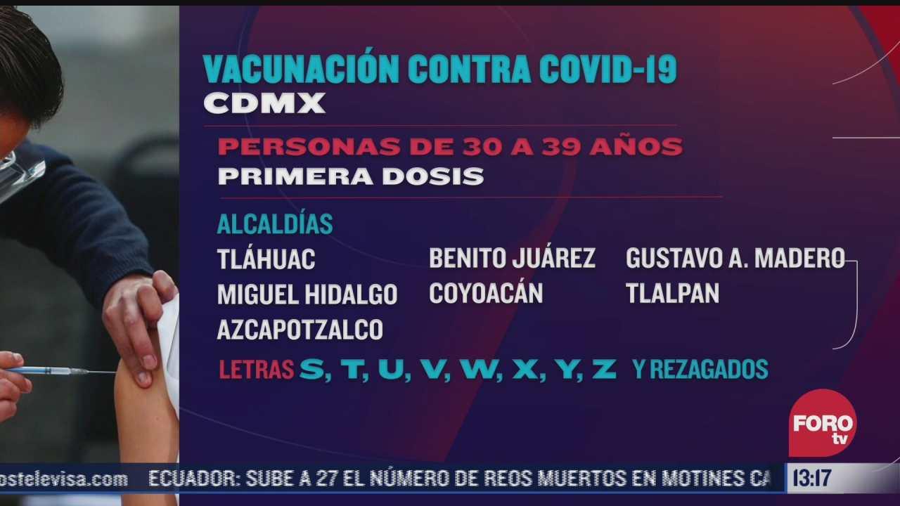 cdmx detalla vacunacion para personas de 18 a 29 anos
