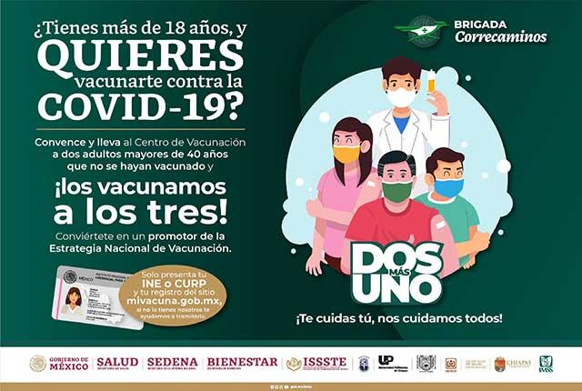 Chiapas IMSS ofrece vacuna COVID a quien lleve gente vacuna