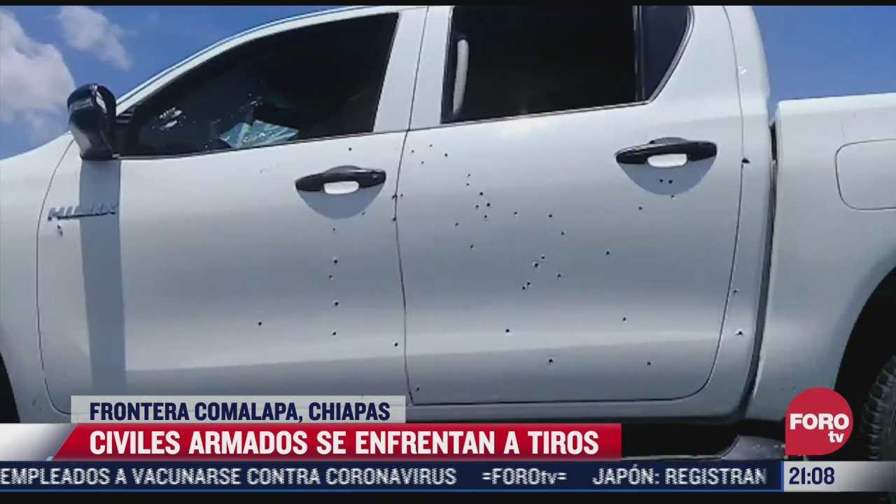 civiles armados se enfrentan a tiros en chiapas