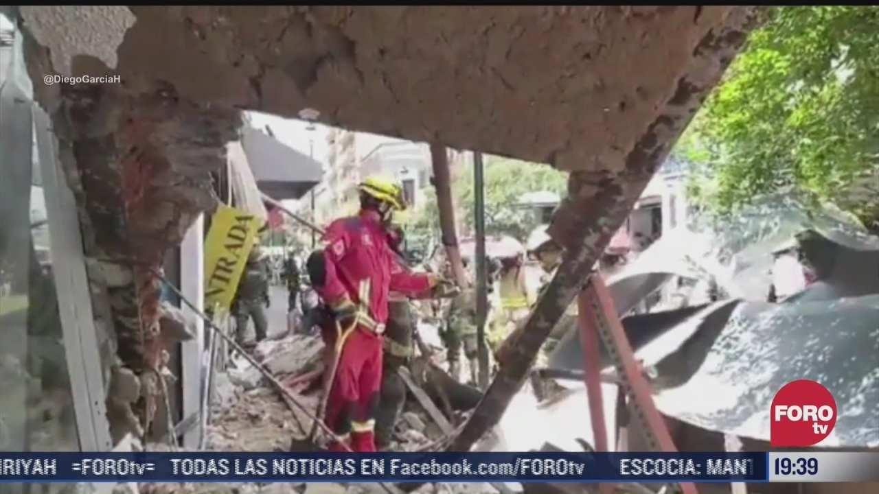 colapsa marquesina de comercio en guadalajara jalisco