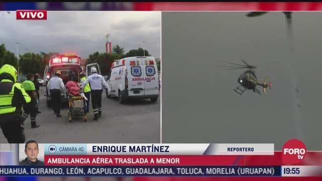 condores trasladan via aerea a menor de edad para su pronta atencion medica