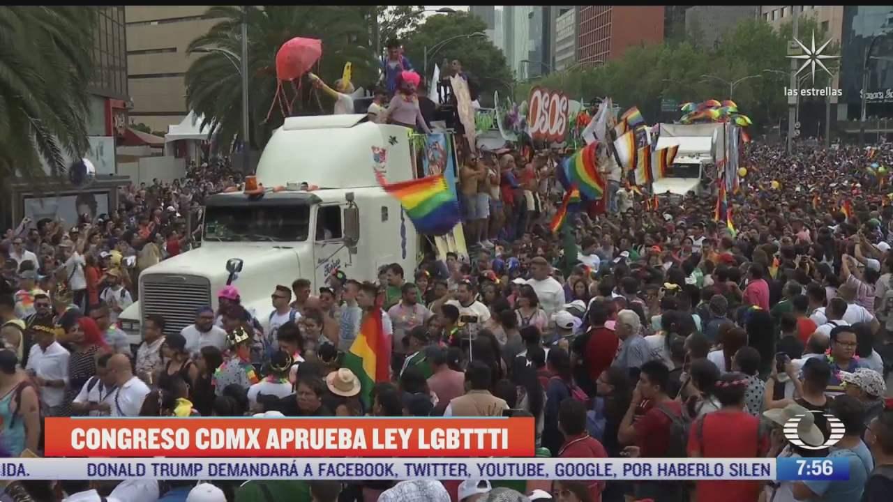 congreso cdmx aprueba ley por derechos de comunidad lgbttti