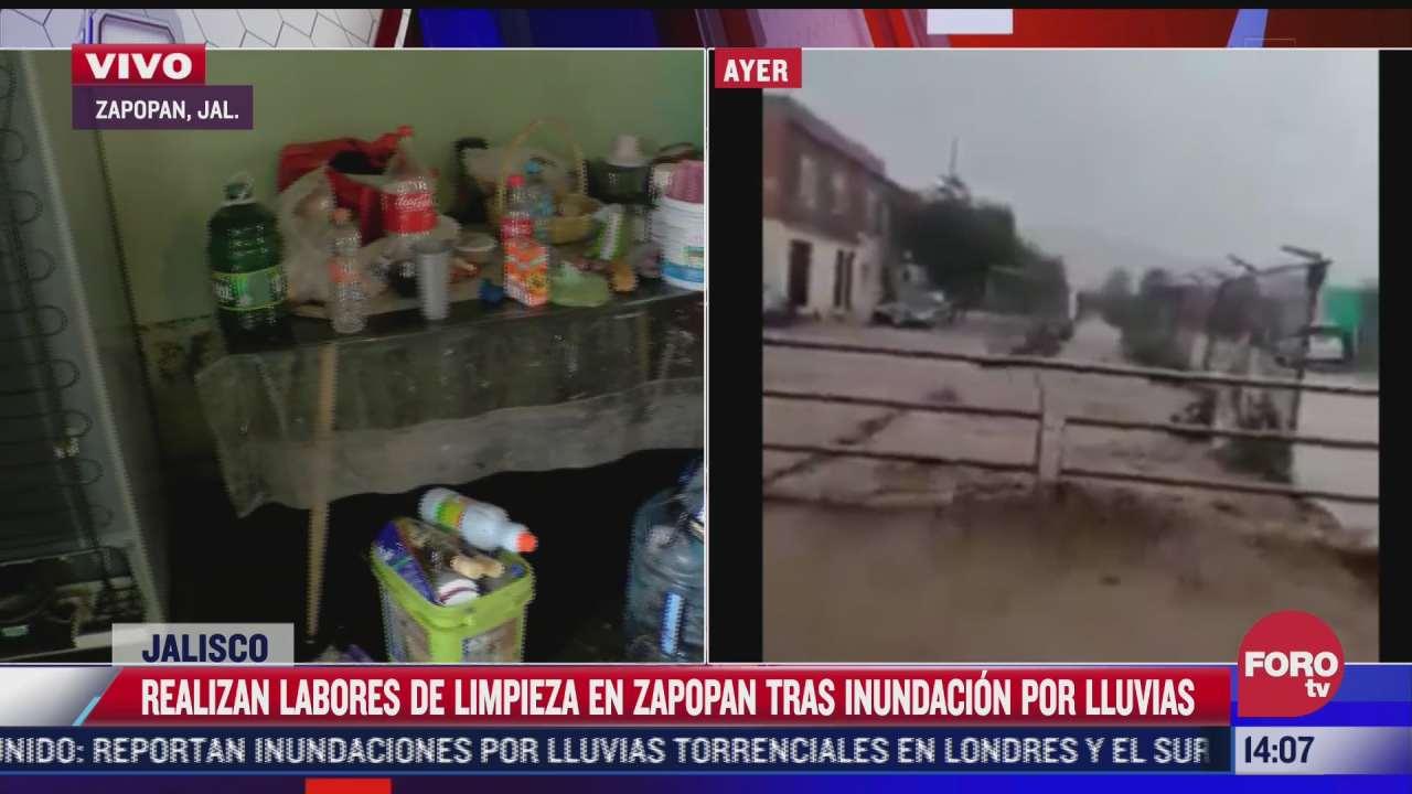 continuan labores de limpieza en zapopan tras inundaciones