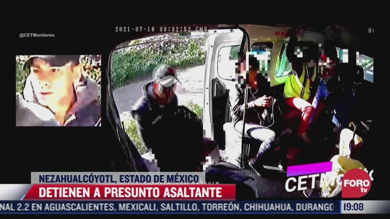 detienen a presunto asaltante de transporte publico en nezahualcoyotl