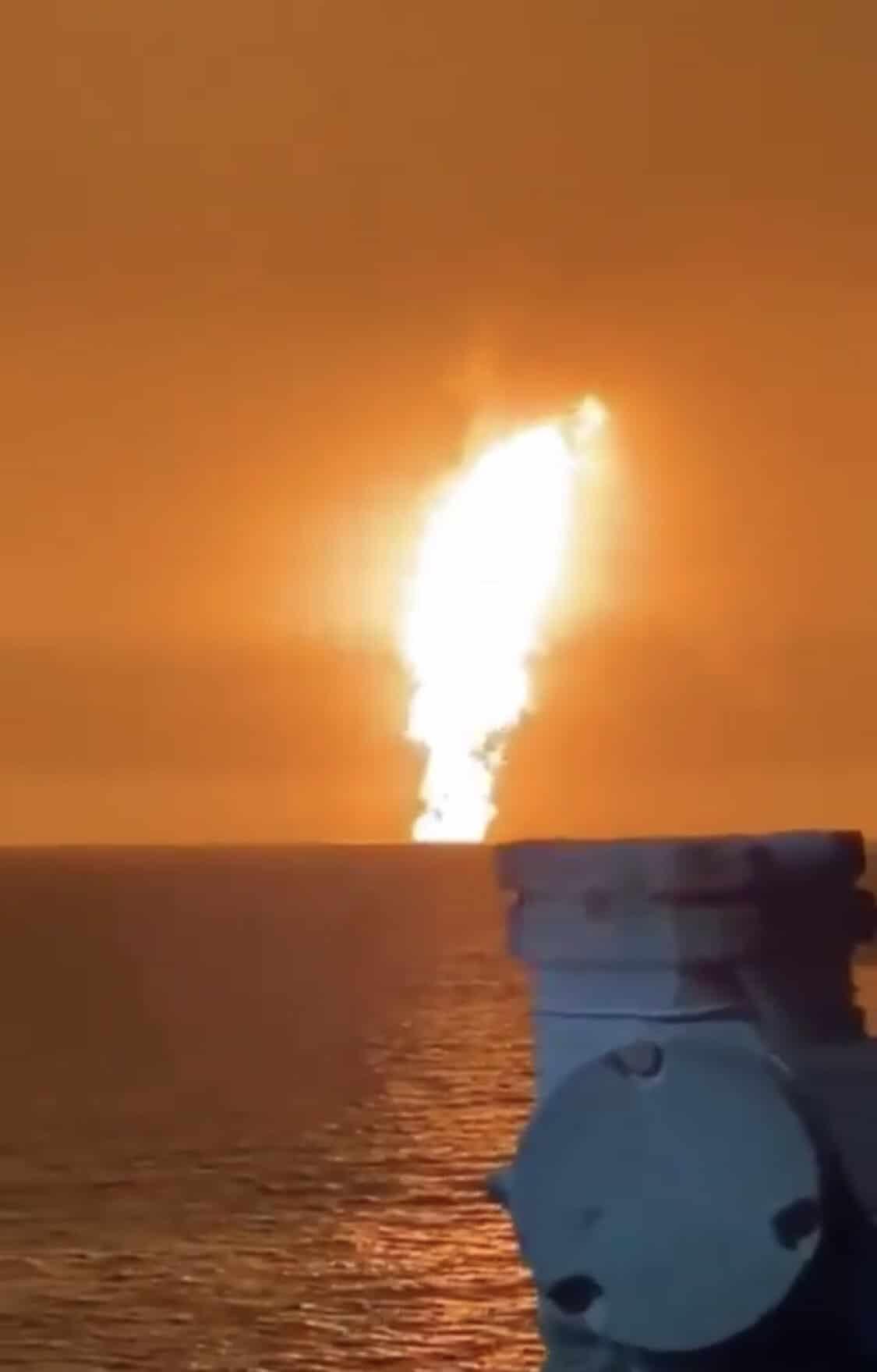 Fotos: Así se vivió la explosión en el mar Caspio