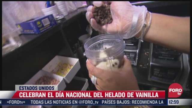 eeuu celebra el dia nacional del helado de vainilla