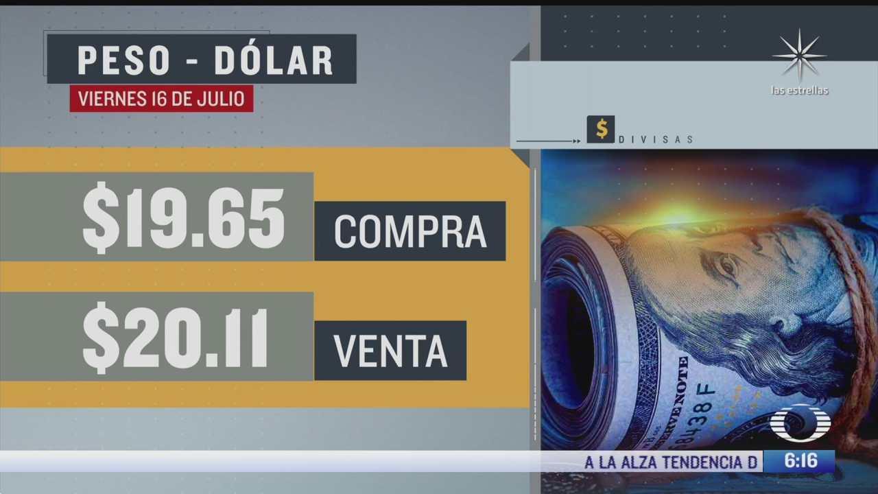 el dolar se vendio en 20 11 en la cdmx del 16 julio