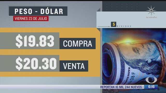 el dolar se vendio en 20 30 en la cdmx del 23 julio