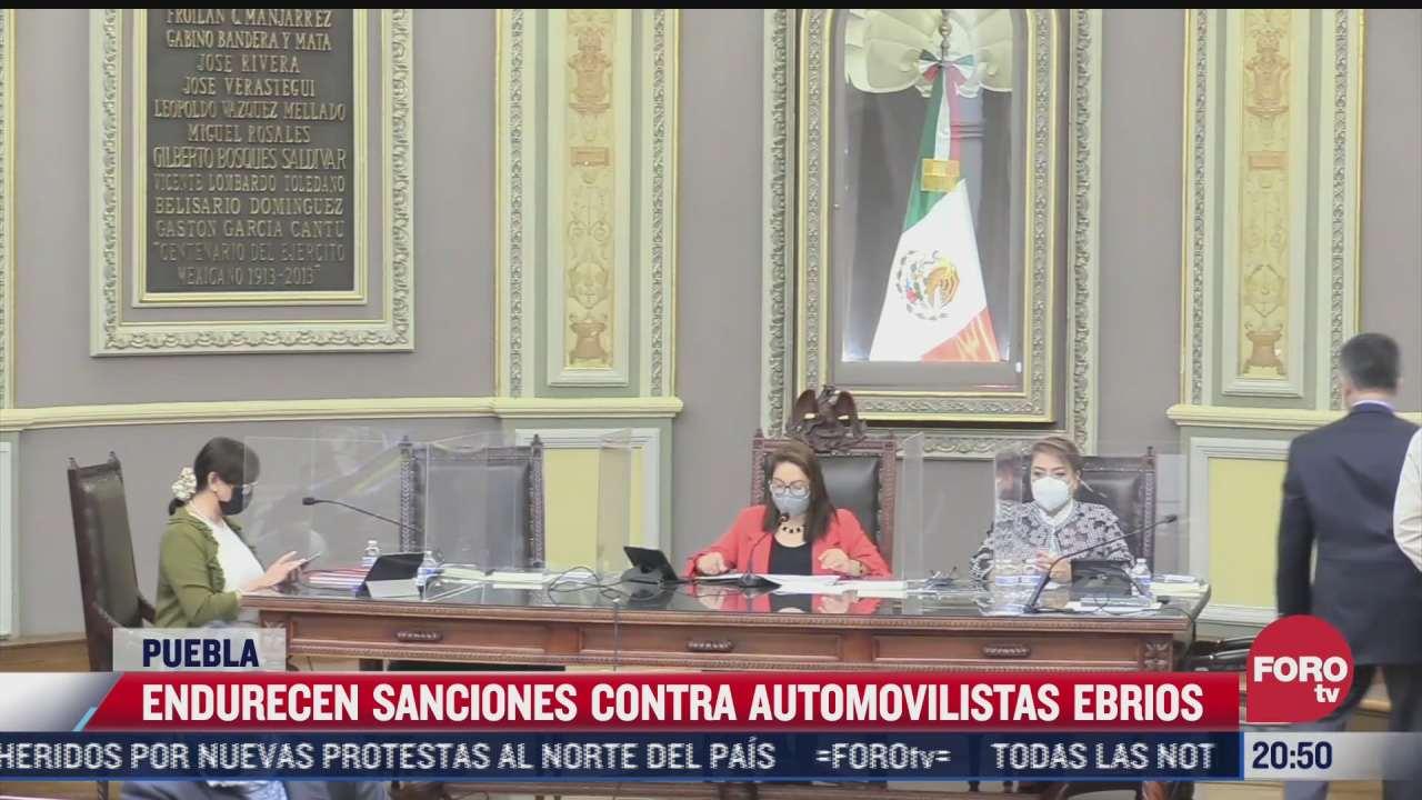 endurecen sanciones contra automovilistas ebrios en puebla