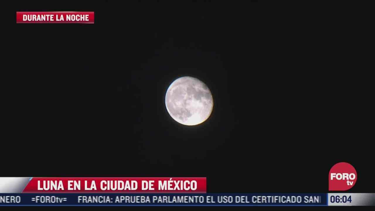 espectacular luna embellece la cdmx