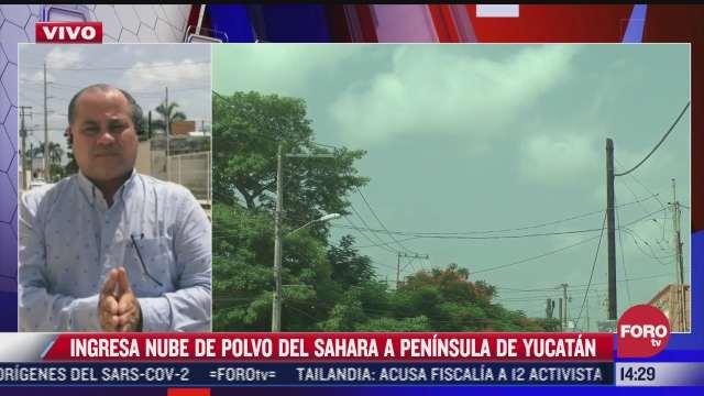 ingresa nube de polvo del sahara a peninsula de yucatan