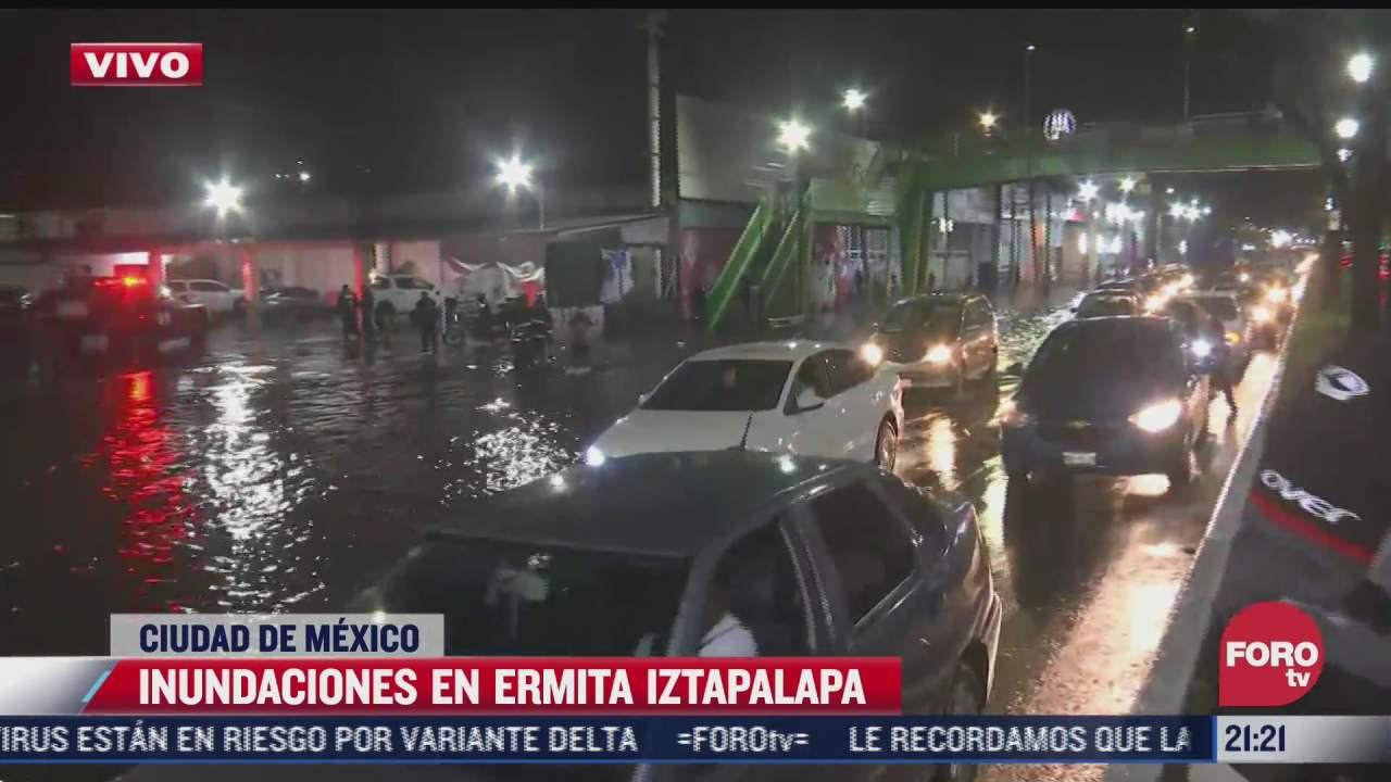 Inundaciones en Ermita Iztapalapa, CDMX