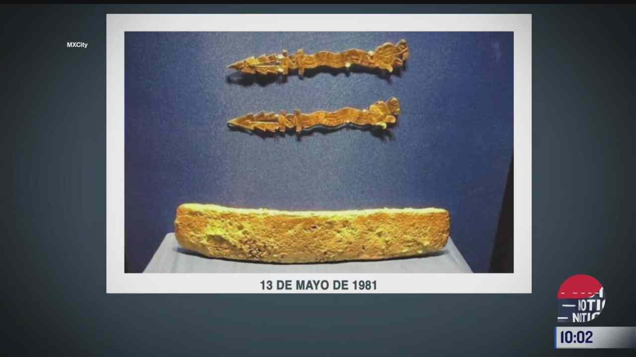 loquepocossaben la barra de oro que pertenecio a moctezuma