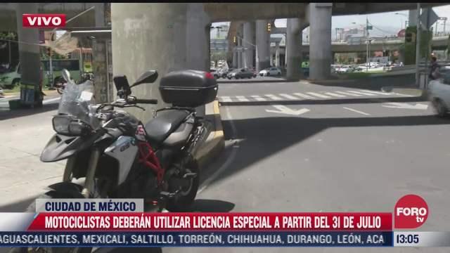motociclistas deberan utilizar licencia especial a partir del 31 de julio en la cdmx