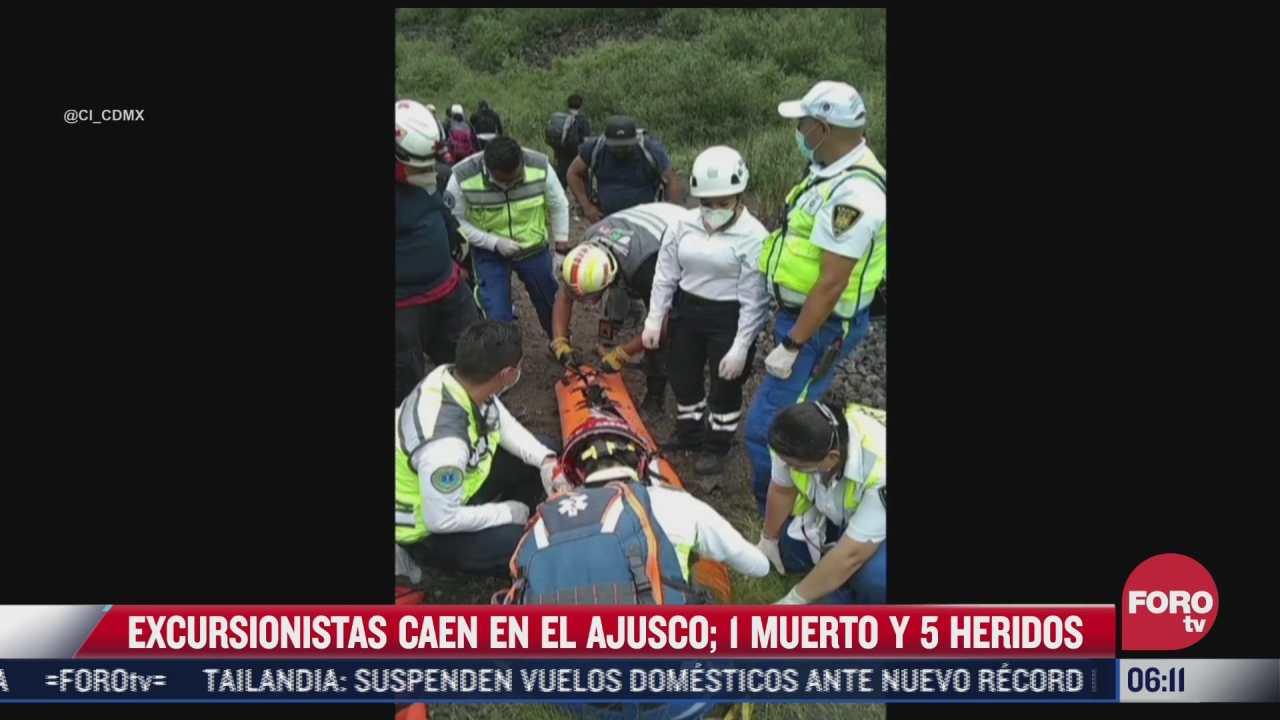 muere mujer al caer al crater del xitle