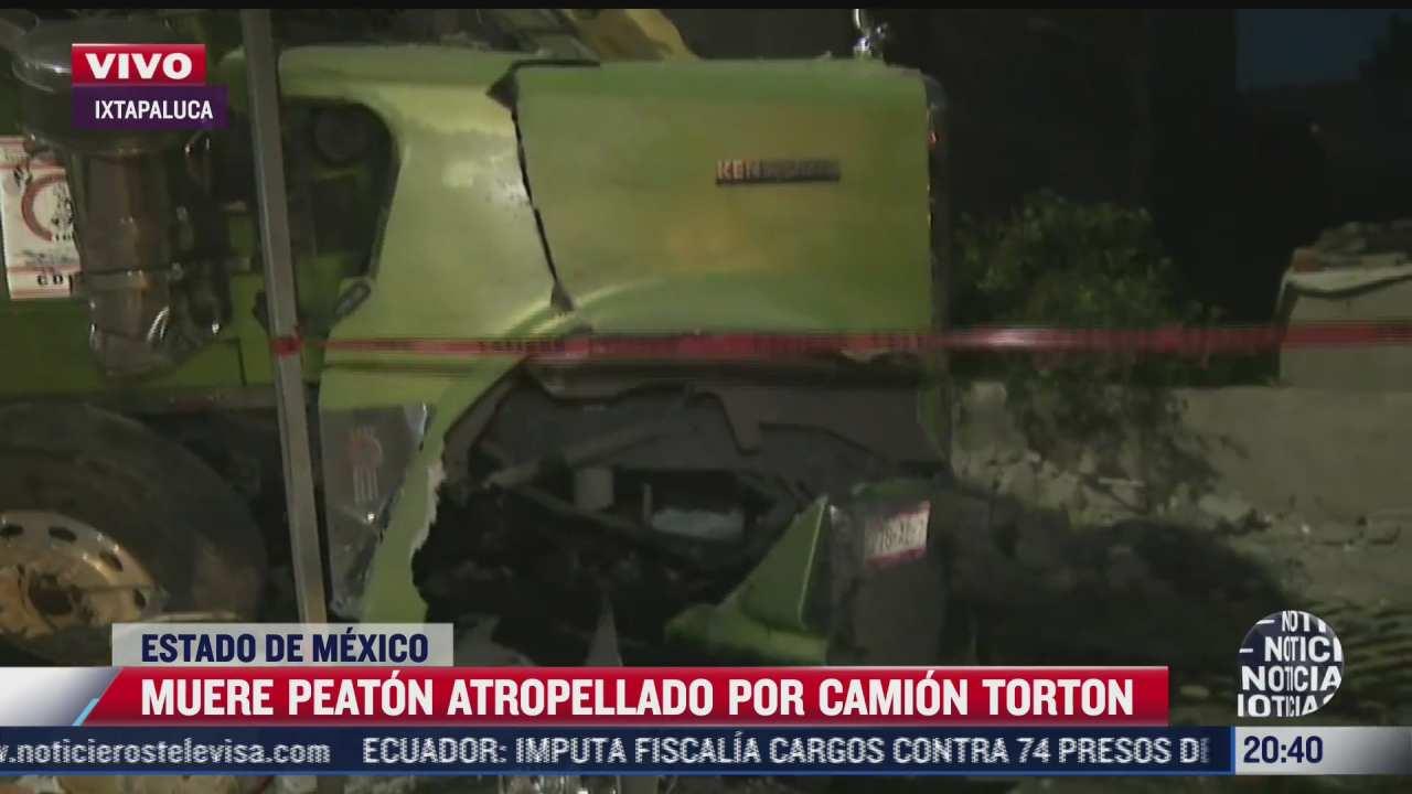 peaton muere atropellado por camion en ixtapaluca