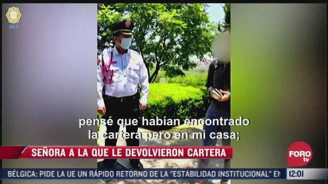 policia de cdmx encuentra cartera con dinero en efectivo y la regresa a su duena
