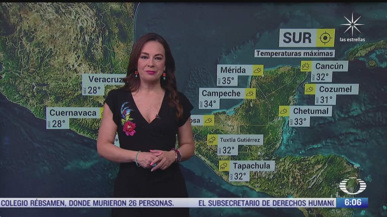 preven lluvias fuertes en noroeste norte occidente centro sur y oriente de mexico