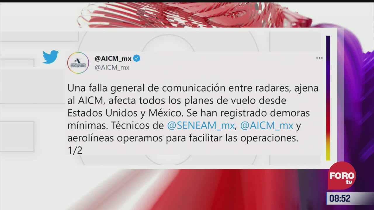 problema de radares afecta vuelos en el aicm