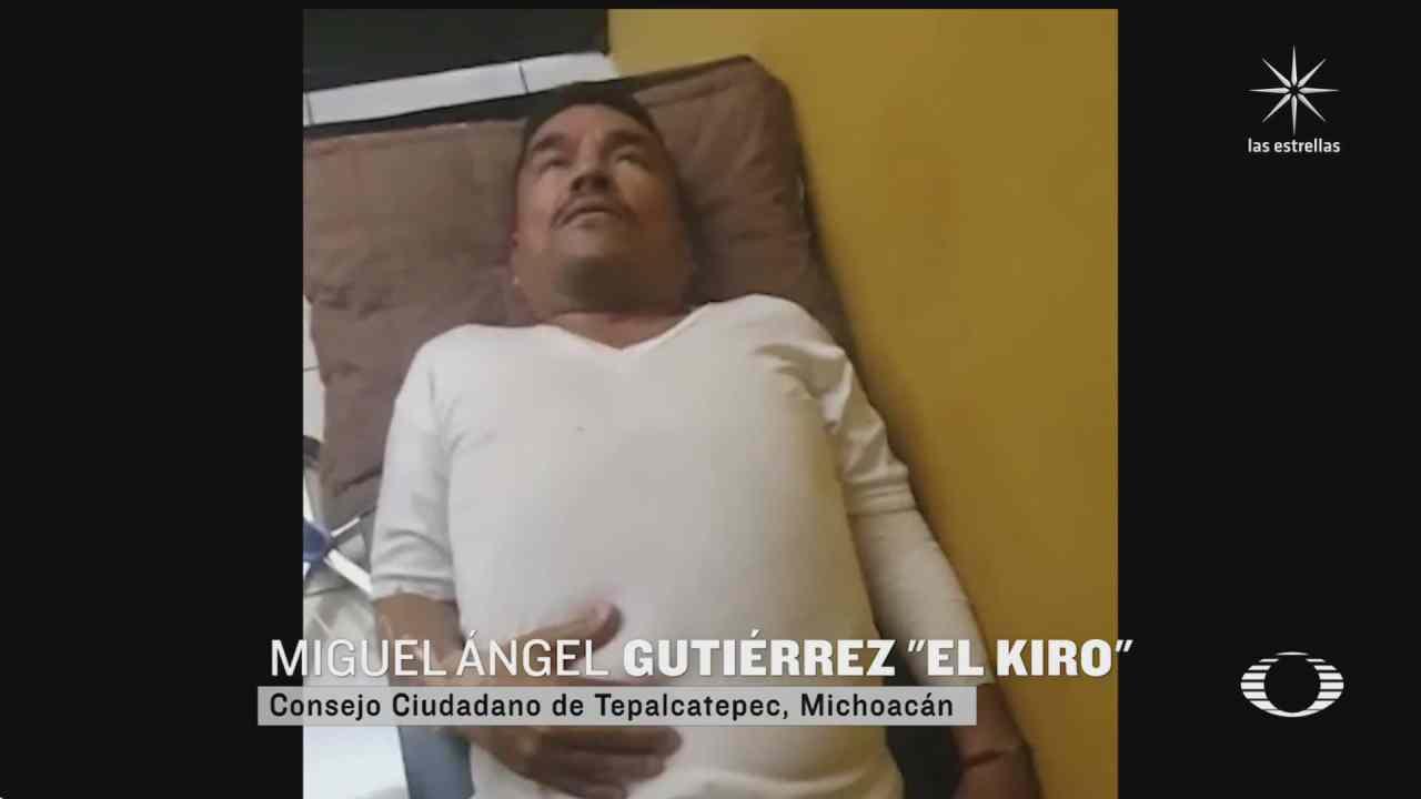 rescatan con vida a el kiro fundador de autodefensas de tepalcatepec