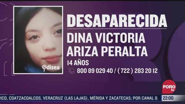 se busca a dina victoria ariza joven de 14 anos desaparecida en tepotzotlan