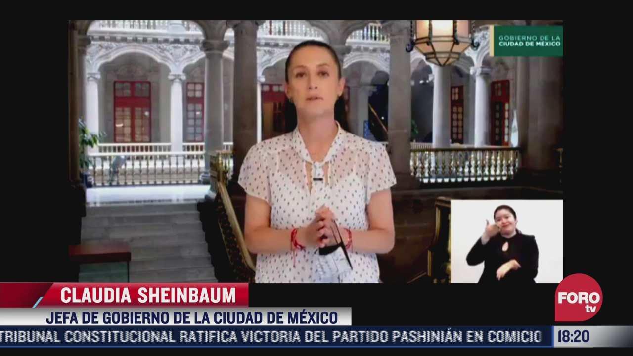 sheinbaum emite mensaje sobre vacunacion covid