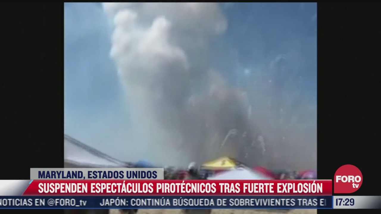 suspenden espectaculos pirotecnicos tras explosion en eeuu